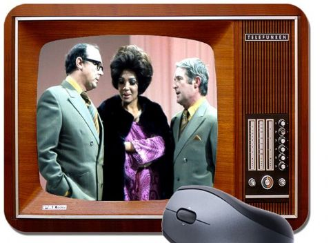 Morecambe & Wise On Television Mouse Mat. Shirley BasseyTelefunken TV Mouse Pad